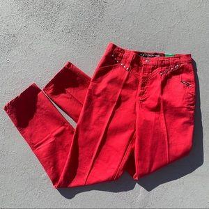 Vintage 80s Rockies red high rise wedgie jeans